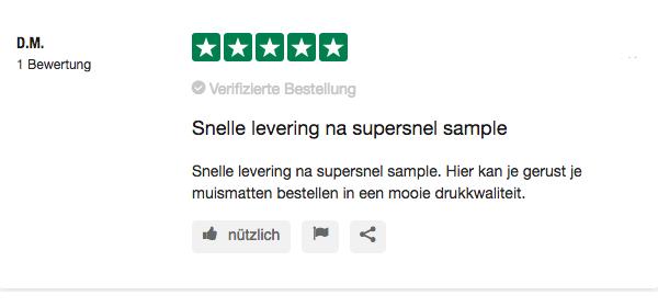Trustpilot mr mousepad dat zeggen onze klanten evaluatie 5 sterren klant