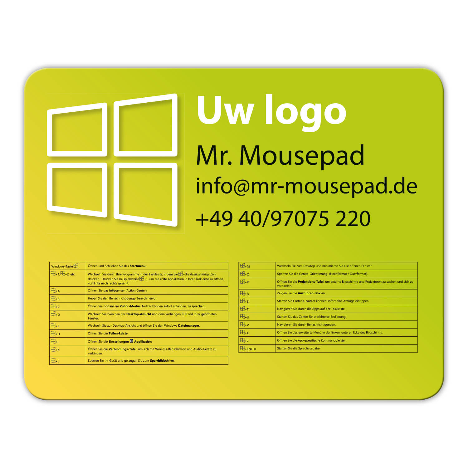 design windows toetsenbord muismatten mousepads