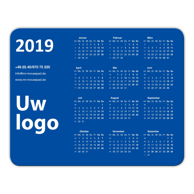 muismatten design kalender logo
